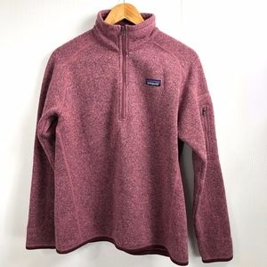 Patagonia 1/4 Zip Better Sweater Pullover L Pink